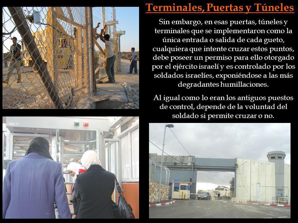 Terminales, Puertas y Túneles Sin embargo, en esas puertas, túneles y terminales que se implementaron como la única entrada o salida de cada gueto, cu