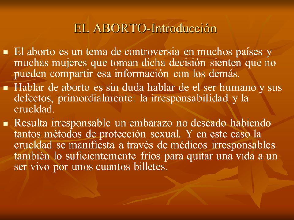 El aborto es un tema de controversia en muchos países y muchas mujeres que toman dicha decisión sienten que no pueden compartir esa información con lo