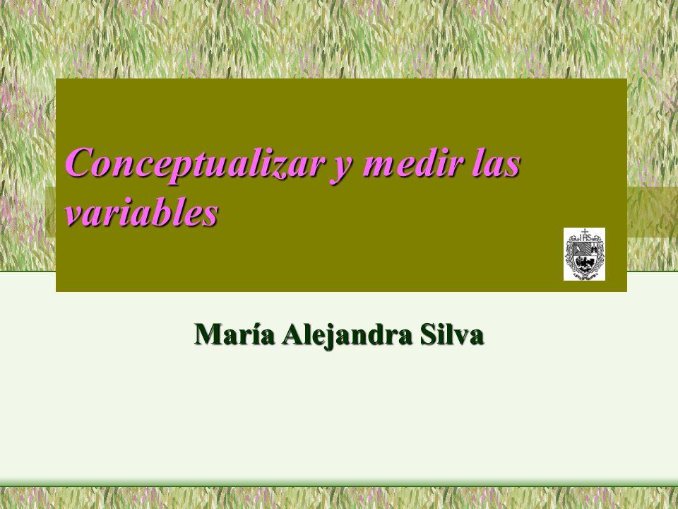 Conceptualizar y medir las variables María Alejandra Silva