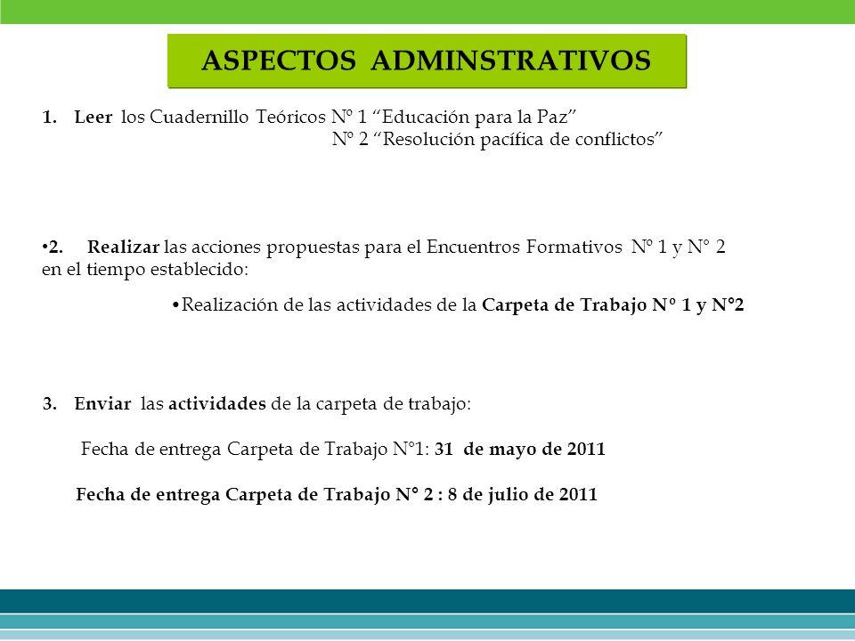 3.Enviar las actividades de la carpeta de trabajo: Fecha de entrega Carpeta de Trabajo N°1: 31 de mayo de 2011 Fecha de entrega Carpeta de Trabajo N°