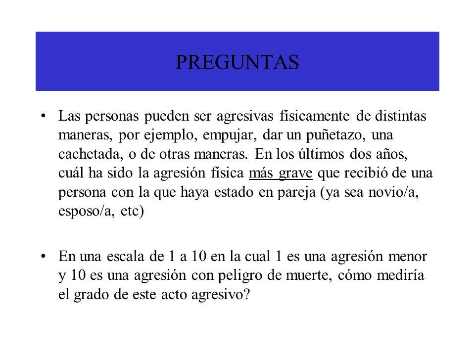 AGRESION RECIBIDA Y CONSUMO DE ALCOHOL PREVIO AL ACTO VIOLENTO BRASILHOMBRES % MUJERES % AMBOS11.76.5 NINGUNO DE LOS DOS 52.947.8 LA PAREJA SOLAMENTE 23.543.4 EL ENTREVISTADO SOLAMENTE 11.72.1