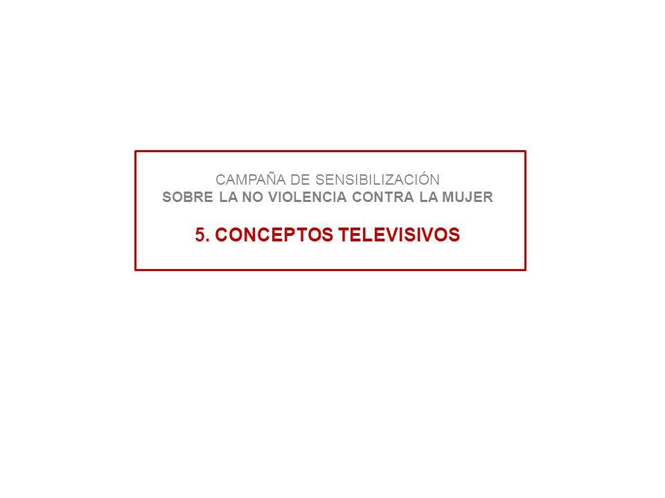 CAMPAÑA DE SENSIBILIZACIÓN SOBRE LA NO VIOLENCIA CONTRA LA MUJER 5. CONCEPTOS TELEVISIVOS