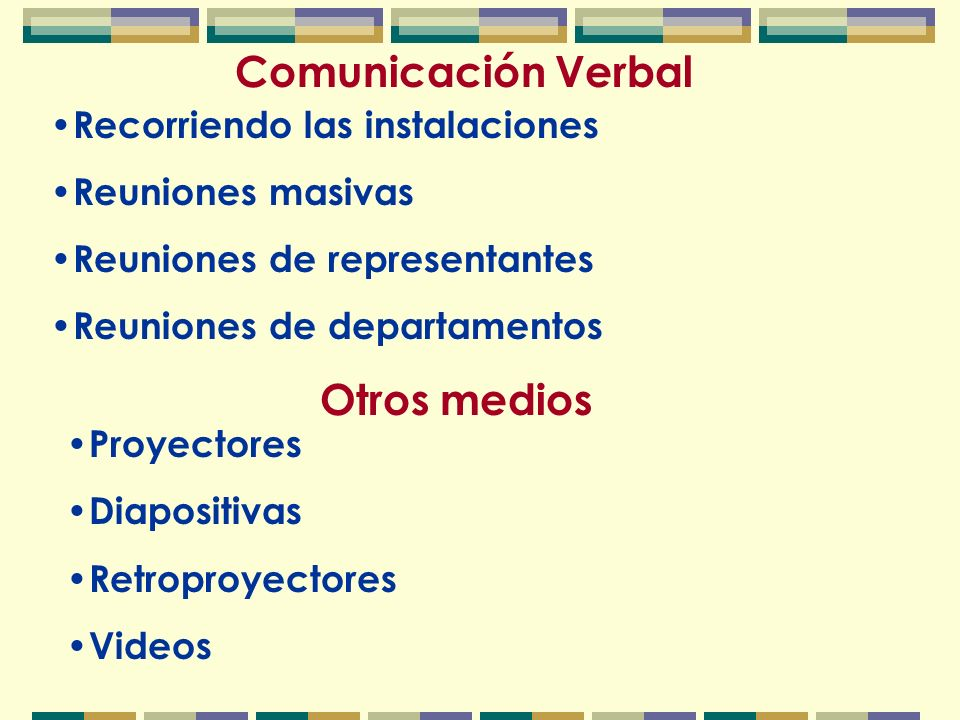 Comunicación Escrita Papeles oficiales de la empresa Boletines Hojas informativas Periódicos empresariales Otras comunicaciones escritas