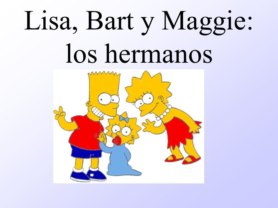 Lisa, Bart y Maggie: los hermanos