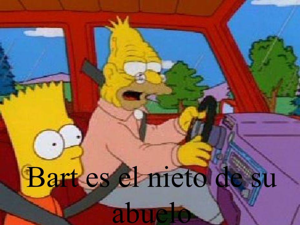 Bart es el nieto de su abuelo