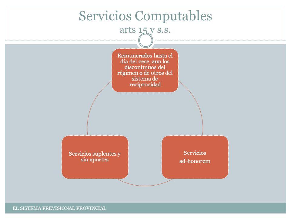 Servicios Computables arts 15 y s.s.