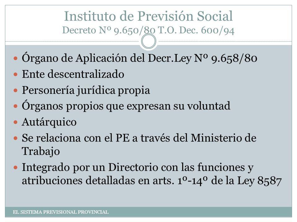 Instituto de Previsión Social Decreto Nº 9.650/80 T.O.