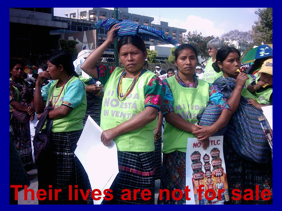 Their lives are not for sale