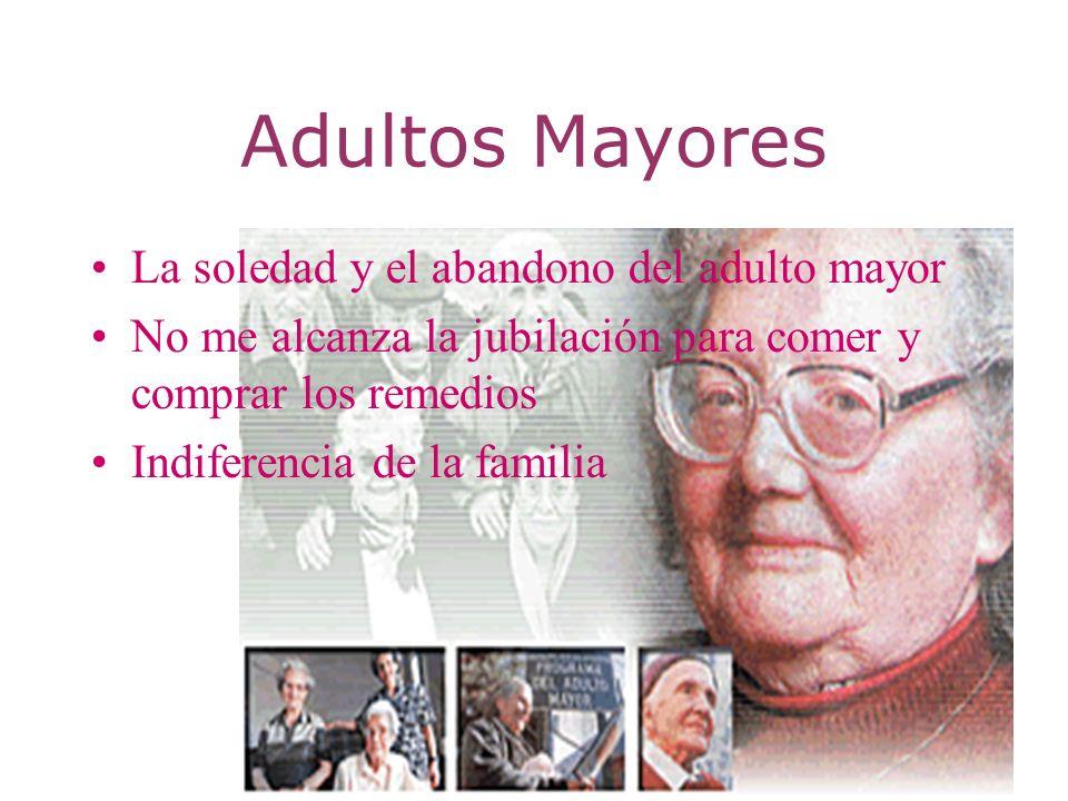 Adultos Mayores La soledad y el abandono del adulto mayor No me alcanza la jubilación para comer y comprar los remedios Indiferencia de la familia
