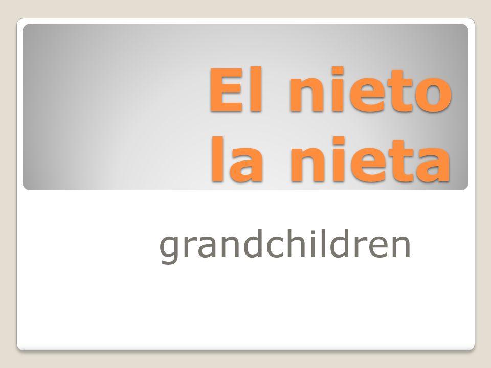 El nieto la nieta grandchildren