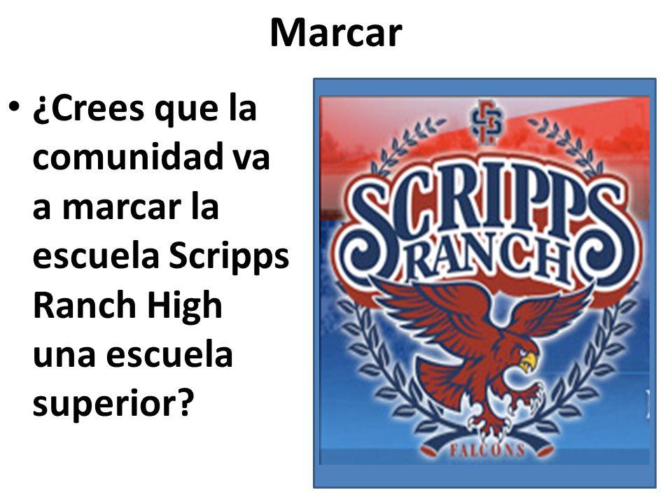 Marcar ¿Crees que la comunidad va a marcar la escuela Scripps Ranch High una escuela superior?