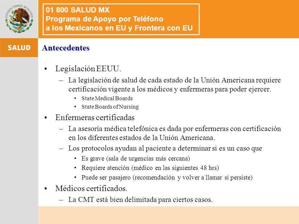 Legislación EEUU.