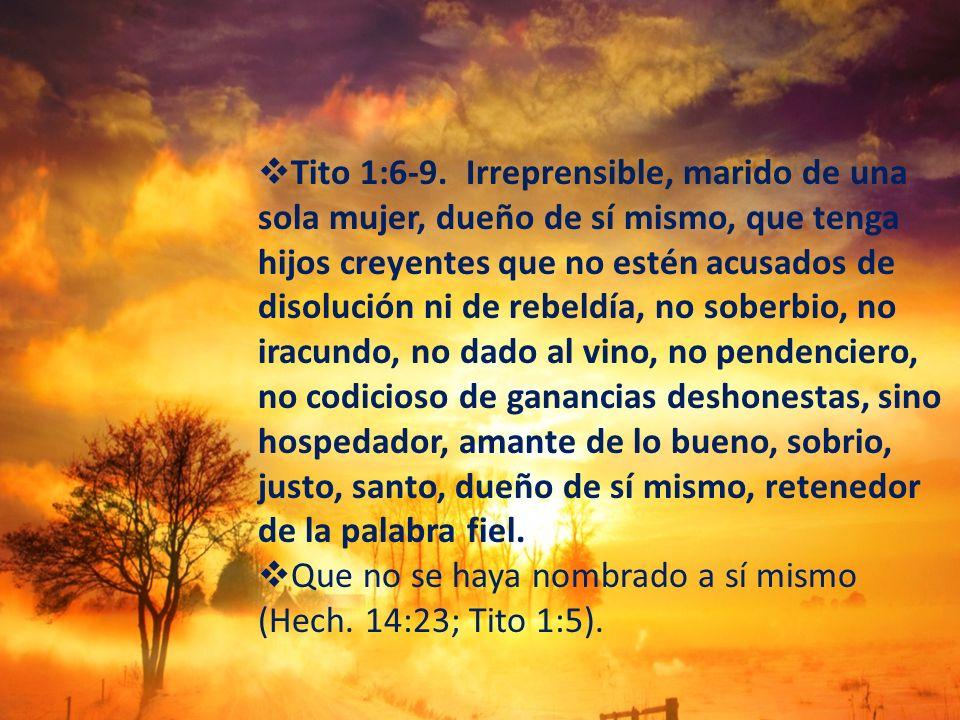 Tito 1:6-9.