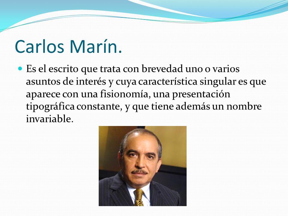 Carlos Marín.