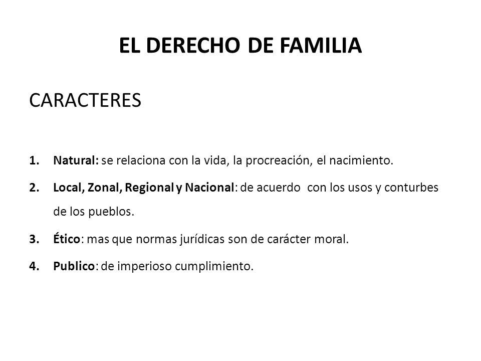 DERECHO DE FAMILIA EN EL PERU 1.