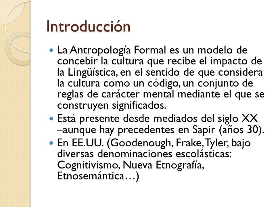 Qué Método: Análisis Componencial Antropologías Formales en EE.UU.