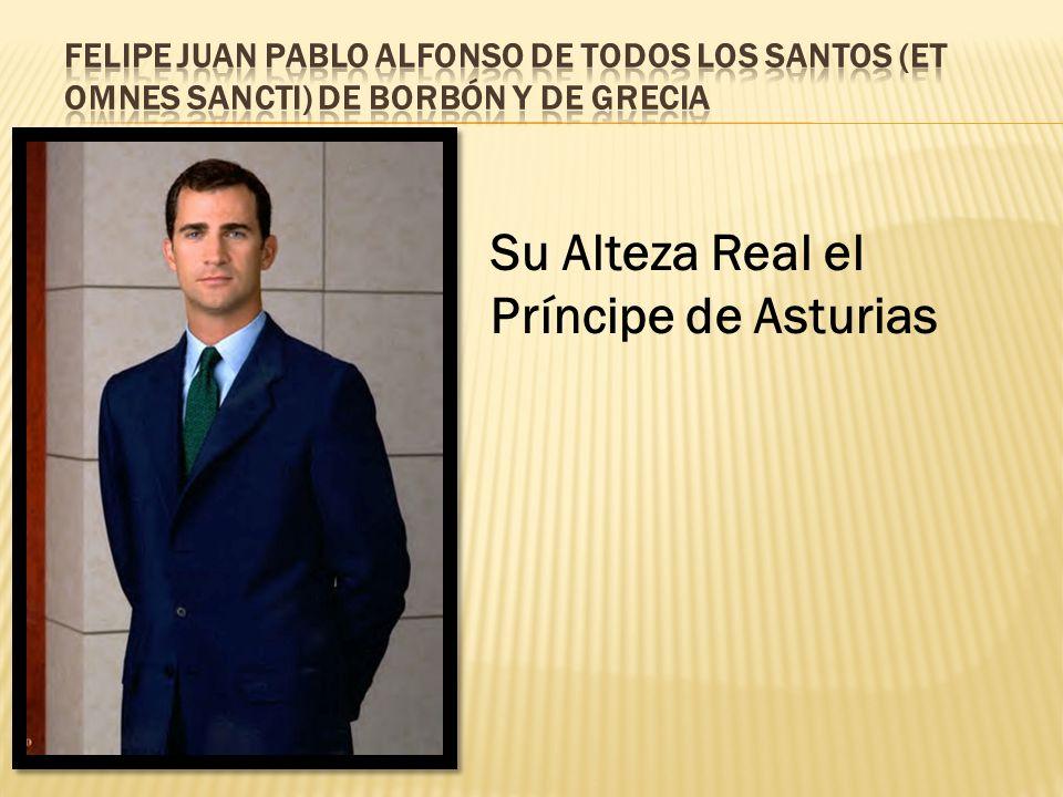 Su Alteza Real el Príncipe de Asturias