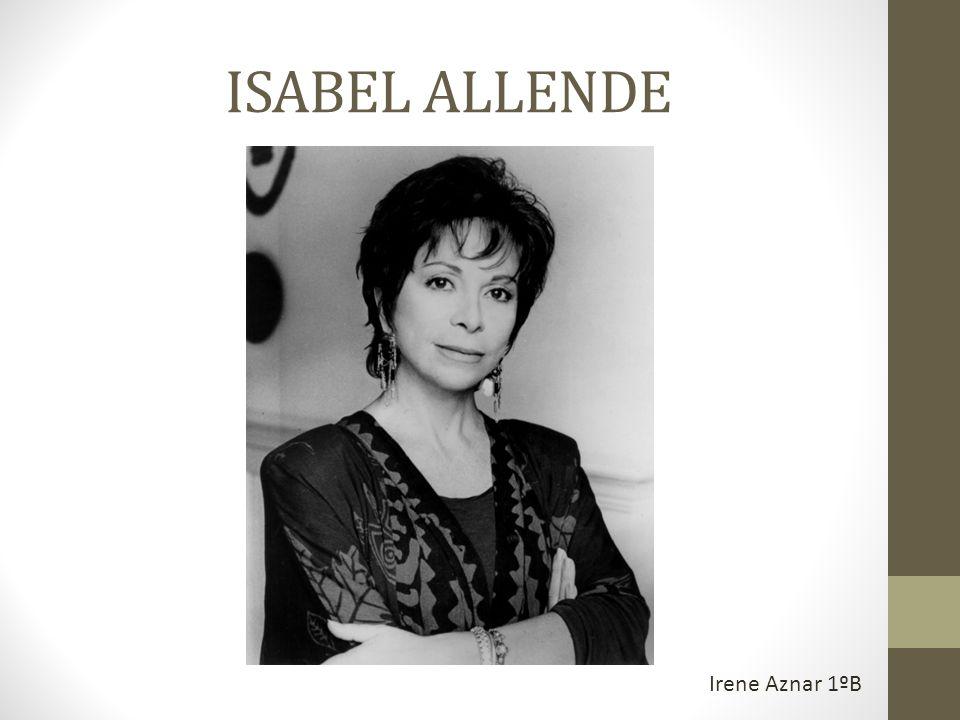 Isabel Allende, escritora chilena de fama mundial, es hija de Tomás Allende Pesce y de Francisca Llona Barros, nació en Lima (Perú), mientras su padre trabajaba como embajador de Chile.