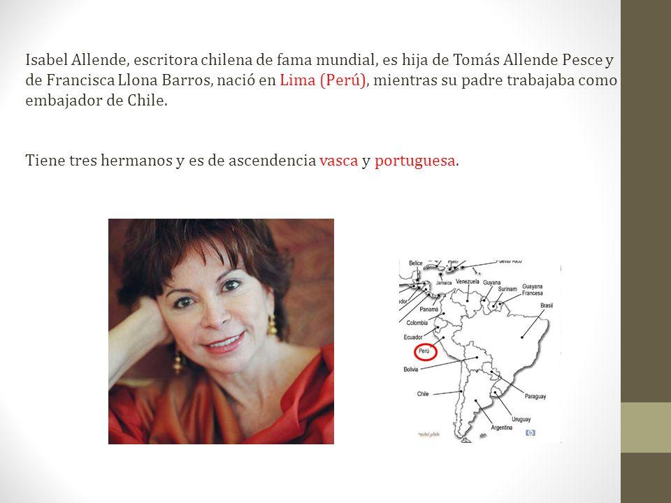 Retrato en sepia (2000): lo que algunos describen como la segunda parte de Hija de la fortuna es en realidad un recorrido por la historia de Chile durante la segunda mitad del siglo XIX a través de una mujer emblemática, Aurora del Valle.