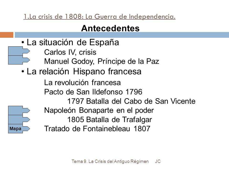 José I Bonaparte Rey de España desde 1808 hasta 1813.
