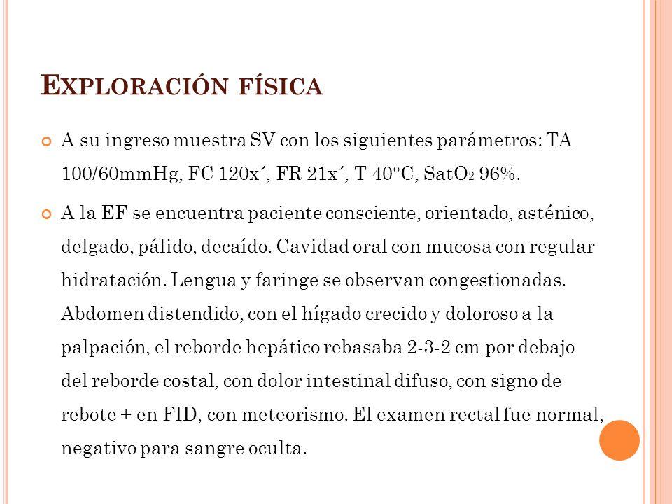 Tratamiento fiebre tifoidea severa Ciprofloxacina 750mg IV c/12 horas por 10 a 14 días + * Dexametasona dosis única de 3mg/Kg seguida de 8 dosis de 1mg/Kg c/6horas Medicina Interna de Harrison 16 ava Edición
