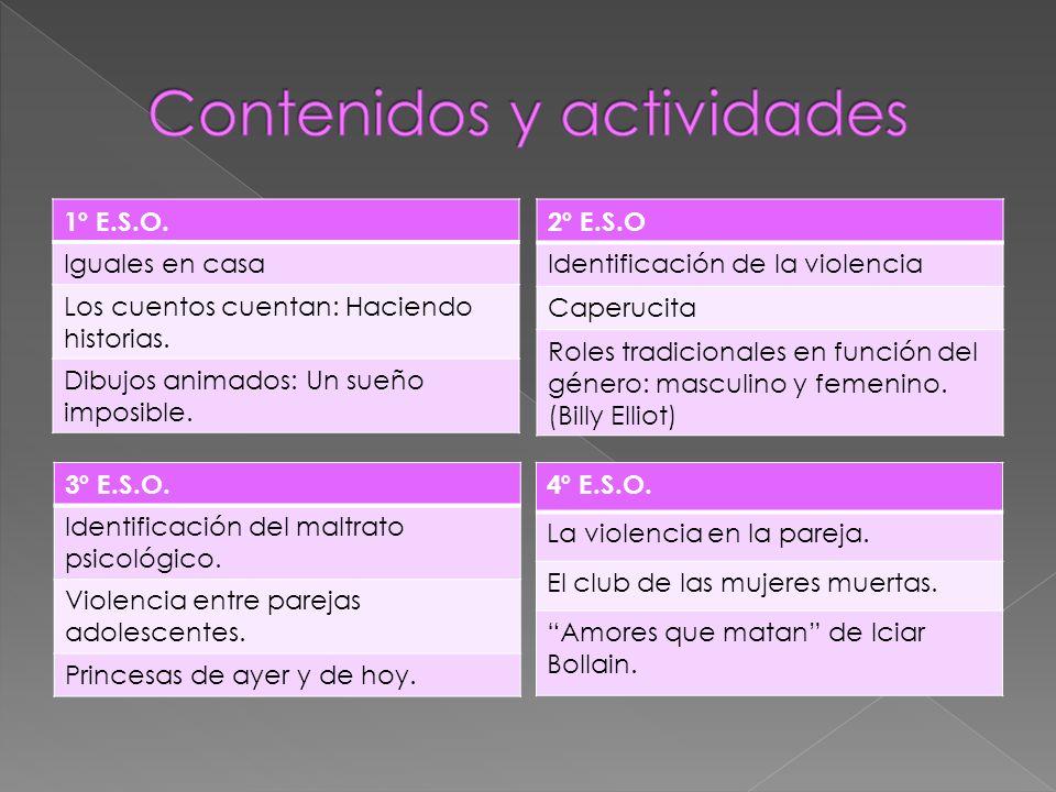 INSTITUTO DE LA MUJER DEL MINISTERIO DE TRABAJO Y ASUNTOS SOCIALES http://www.mtas.es/mujer/ LA DIRECCIÓN GENERAL DE LA MUJER http://www.comadrid.es/cmadrid/dgmujer/dgmujer.htm CONSEJO DE LA MUJER DE LA COMUNIDAD DE MADRID http://personal.redestb.es/consejomujer/index.htm RED DE CENTROS DE DOCUMENTACIÓN Y BIBLIOTECAS DE MUJERES http://www.cird.bcn.es/cird/castella/einfor/einfor8.htm BLOG DE COEDUCACIÓN http://coeducacionalhaken.blogspot.com/ JUNTA DE ANDALUCÍA.