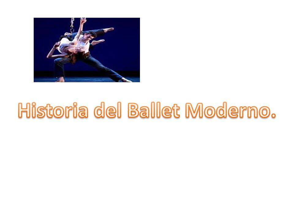 Ballet Moderno Forma de danza escénica característica del siglo XX.