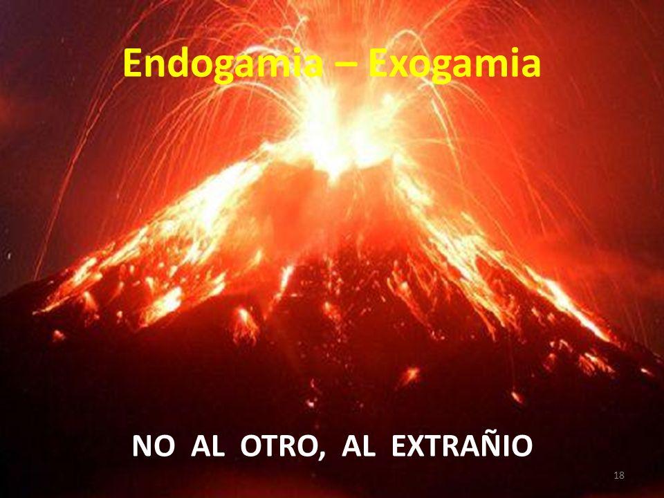 Endogamia – Exogamia NO AL OTRO, AL EXTRAÑIO 18