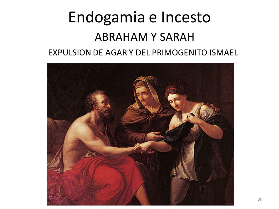 Endogamia e Incesto EXPULSION DE AGAR Y DEL PRIMOGENITO ISMAEL 20 ABRAHAM Y SARAH