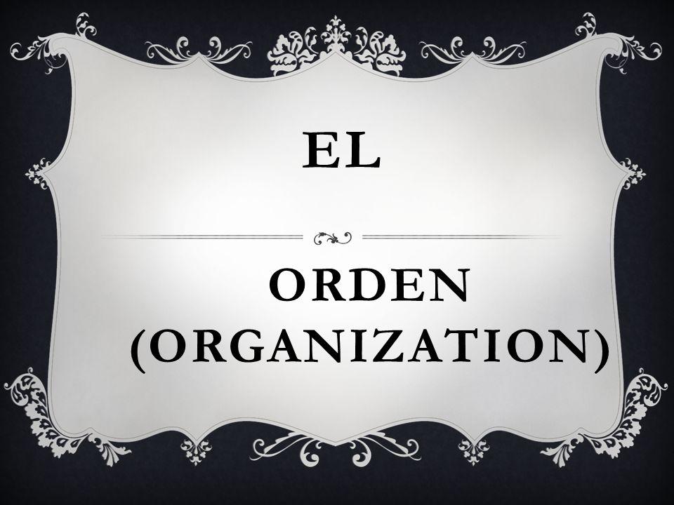 ORDEN (ORGANIZATION) EL