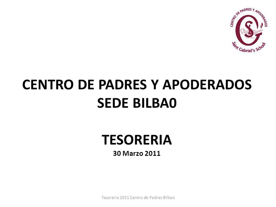 Tesoreria 2011 Centro de Padres Bilbao CENTRO DE PADRES Y APODERADOS SEDE BILBA0 TESORERIA 30 Marzo 2011