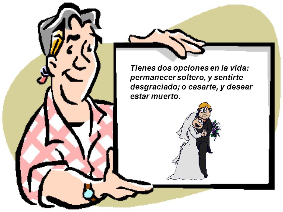 El matrimonio es el triunfo de la imaginación sobre la inteligencia.