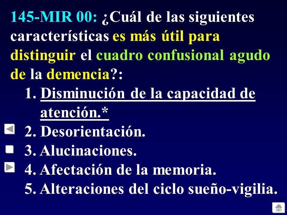 151-MIR 00: El uso de la terapia electroconvulsiva en la depresión endógena puede indicarse como mejor opción que los fármacos en una de las siguientes situaciones.