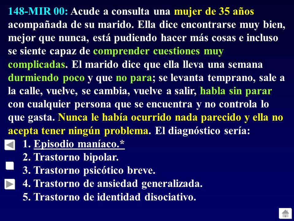 147-MIR 00: Respecto del denominado síndrome neuroléptico maligno, una de las siguientes afirmaciones NO es cierta: 1. Se trata de una reacción idiosi