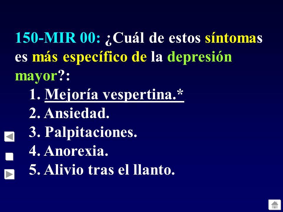 149-MIR 00: NO es causa de delirio: 1. Una intoxicación. 2. Un síndrome de abstinencia. 3. Un proceso tumoral. 4. Una infección cerebral. 5. Un trasto