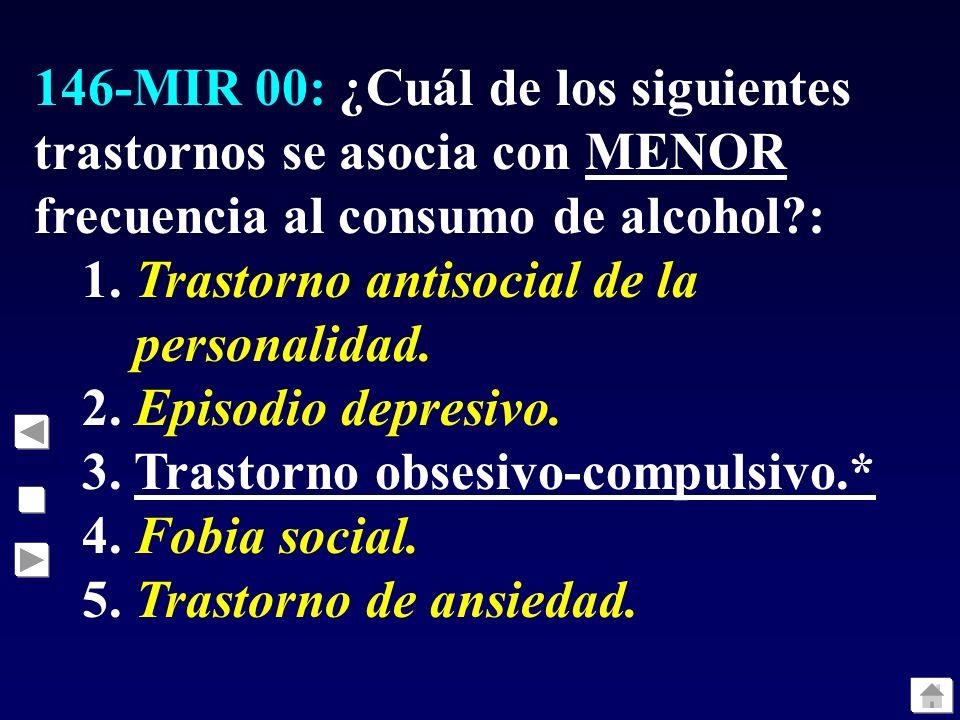 150-MIR 00: ¿Cuál de estos síntomas es más específico de la depresión mayor?: 1.