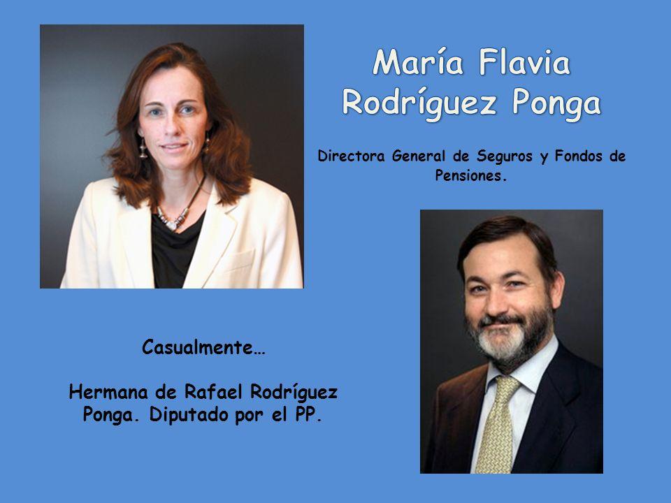 Casualmente… Hermano de María Flavia Rodríguez Ponga. Directora general de seguros y fondos de pensiones.