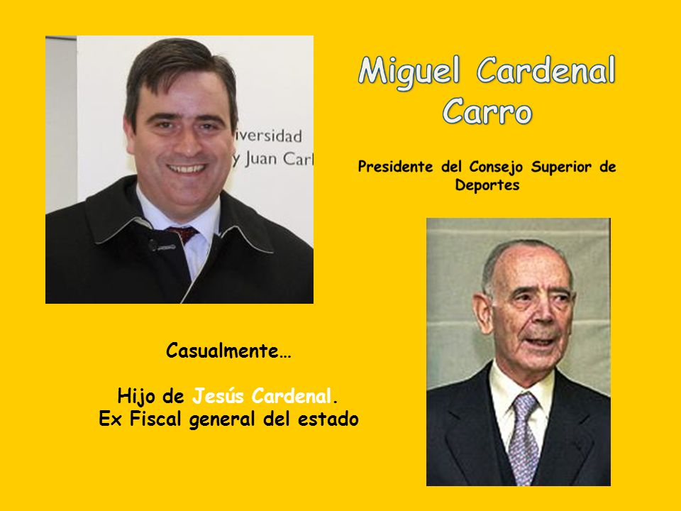 Casualmente… Hijo de Marcelino Oreja Aguirre. Ex diputado y ex ministro de asuntos exteriores