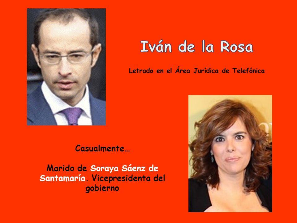 Casualmente… Hija de Ex Ministro Eduardo Zaplana.