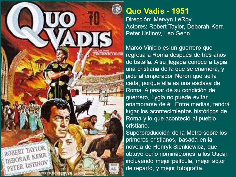 Junto con el género del fart west, las películas de romanos fueron el otro gran género de películas que se realizó durante las décadas de los años 50