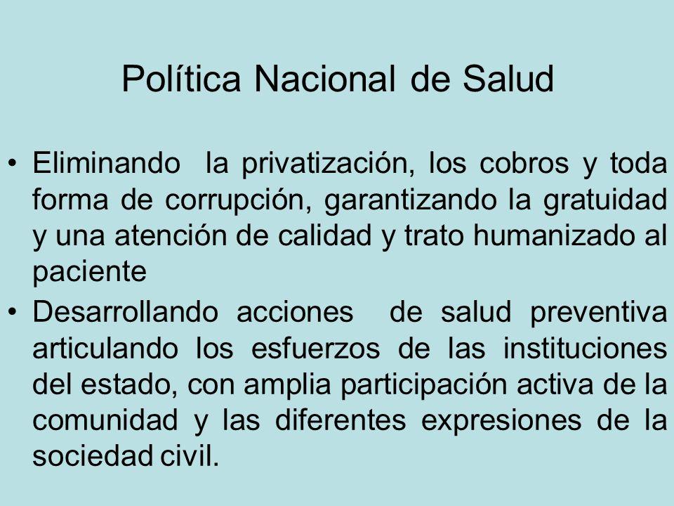 Desarrollando acciones de salud preventiva articulando los esfuerzos de las instituciones del estado, con amplia participación activa de la comunidad y las diferentes expresiones de la sociedad civil.