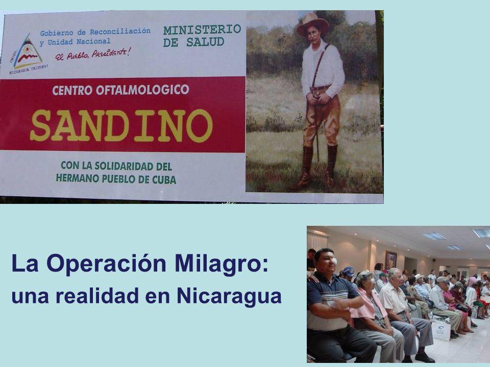 La Operación Milagro: una realidad en Nicaragua