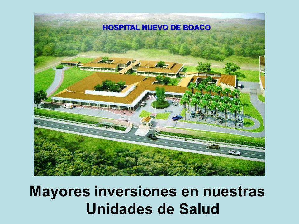HOSPITAL NUEVO DE BOACO Mayores inversiones en nuestras Unidades de Salud