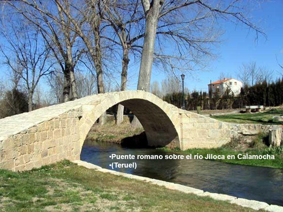 Puente romano sobre el río Jiloca en Calamocha (Teruel)