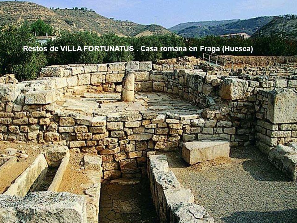 Restos de VILLA FORTUNATUS. Casa romana en Fraga (Huesca)