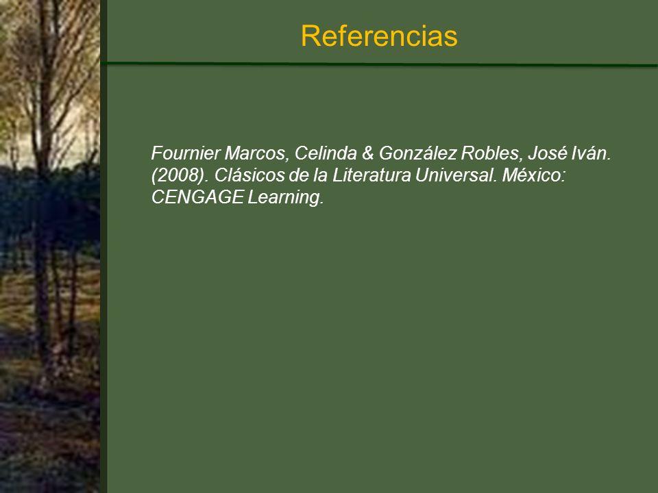 Referencias Fournier Marcos, Celinda & González Robles, José Iván.