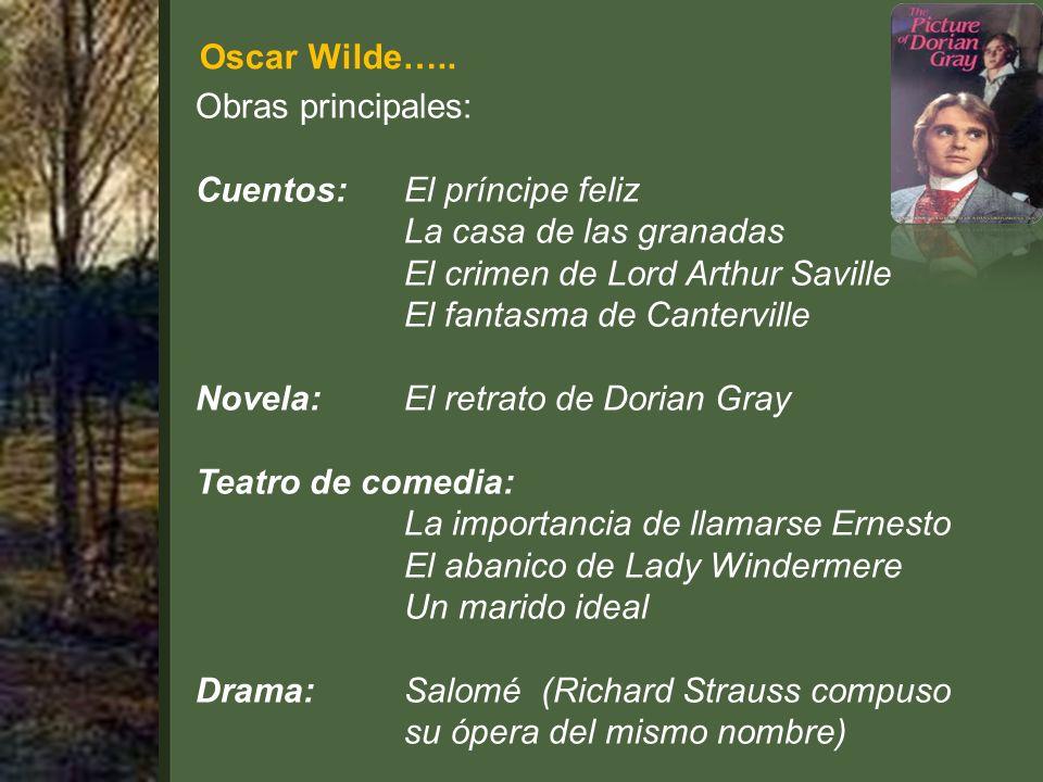 Oscar Wilde…..