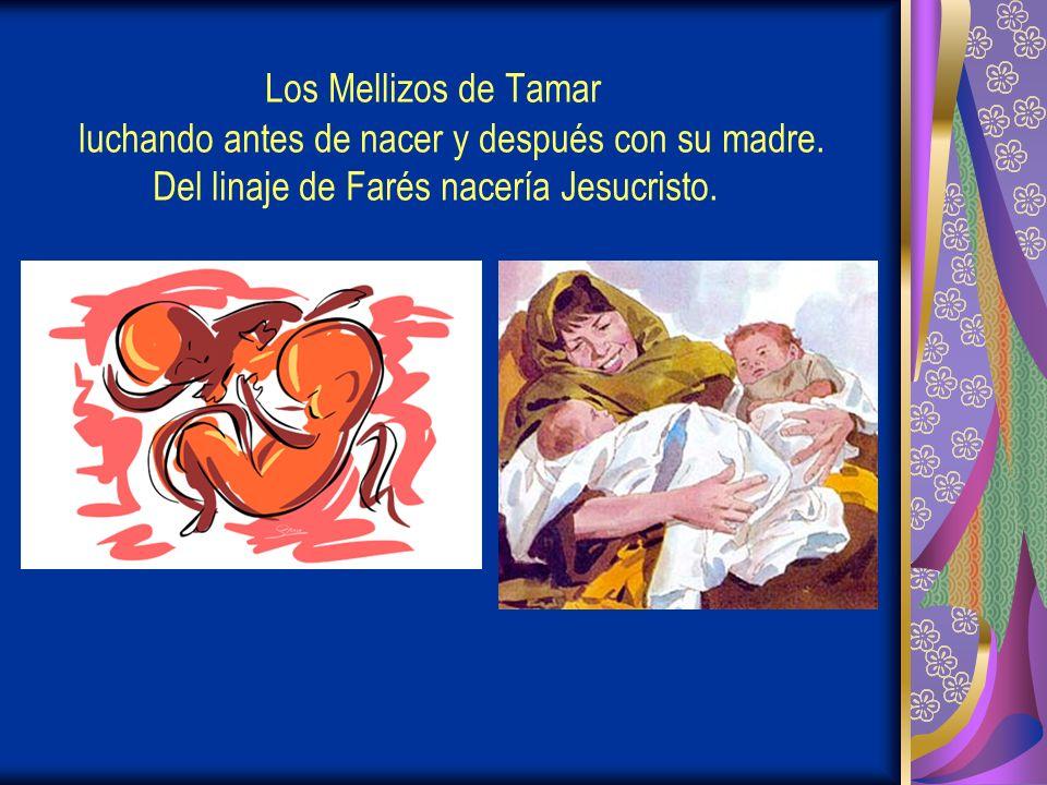 Los Mellizos de Tamar luchando antes de nacer y después con su madre.