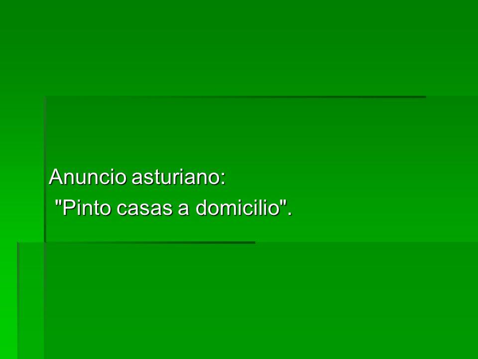 Anuncio asturiano: