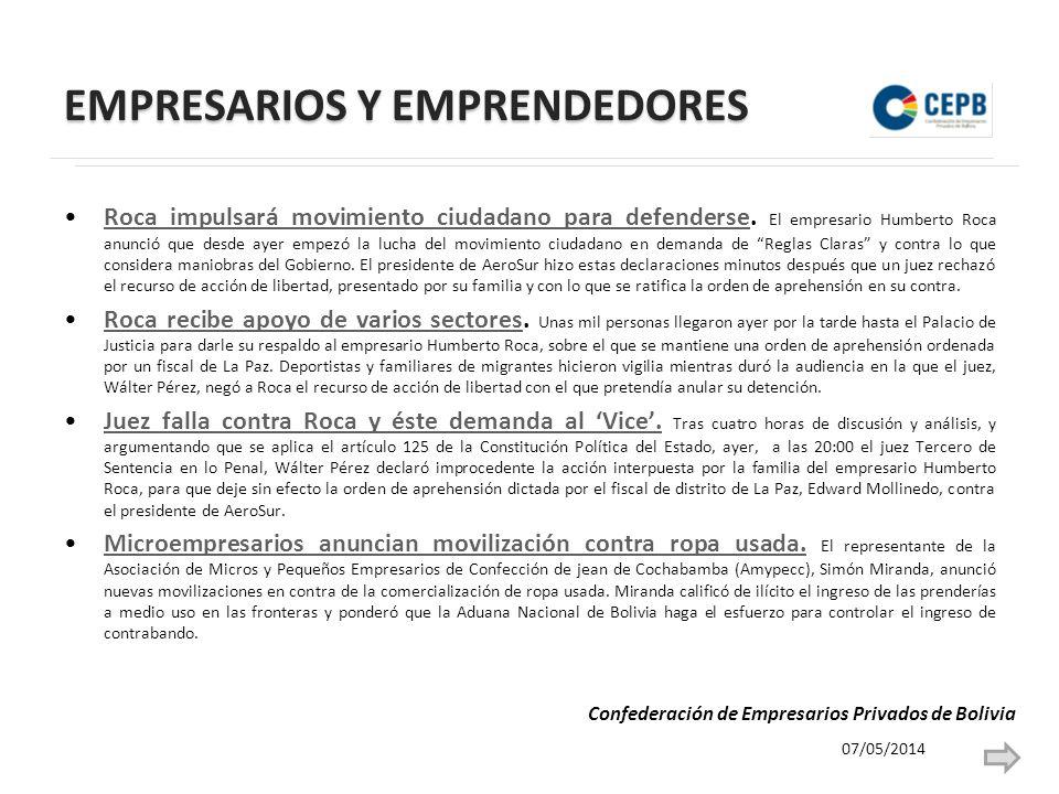 EMPRESARIOS Y EMPRENDEDORES Roca impulsará movimiento ciudadano para defenderse.